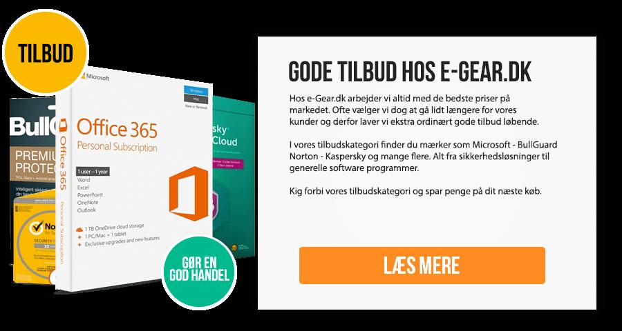 Gode tilbud hos e-Gear.dk