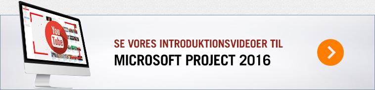 Introduktionsvideoer til Microsoft Project 2013