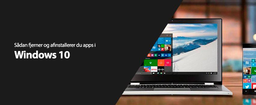 Sådan fjerner og afinstallerer du apps i Windows 10
