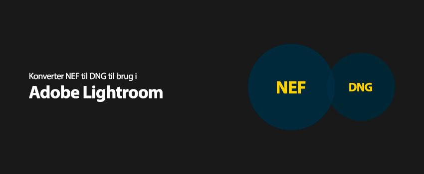 Konverter NEF til DNG til brug i Adobe Lightroom
