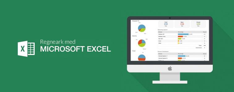Regneark med Microsoft Excel