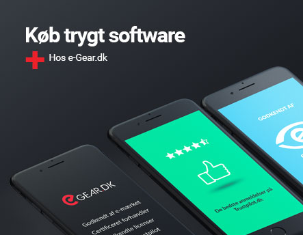 Køb trygt software hos e-Gear.dk