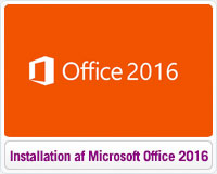 Installation af Microsoft Office 2016