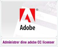 Sådan administrer du dine Adobe CC licenser