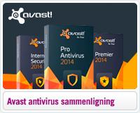 Sammenligning af Avast an