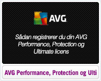 Sådan Registrerer du din AVG Performance, Protection og Ultimate licens