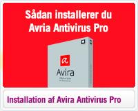 Hjælp til installation af Avira Antivirus Pro