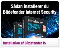 Sådan installerer du Bitdefender Internet Security