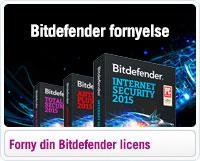 Sådan fornyer du din Bitdefender licens