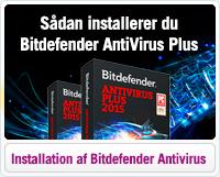 Hjælp til installation af Bitdefender Antivirus