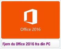 Sådan fjerner du Office 2016 fra din PC