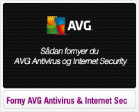 Sådan fornyer du AVG Antivirus og Internet Security