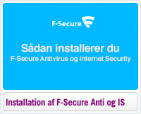 Sådan installerer du F-Secure Antivirus og Internet Security