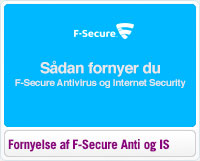 Sådan Fornyer du F-Secure Antivirus og Internet Security