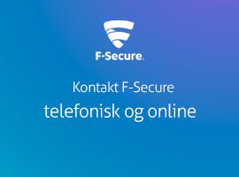 Kontakt F-Secure support telefonisk og online
