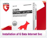 Hjælp til installation af G Data Internet Security