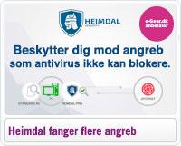 Heimdal beskytter dig mod de angreb som antivirus ikke blokere