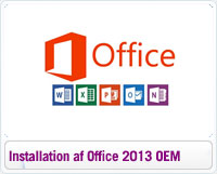 Installation og geninstallation af Microsoft Office 2013 OEM