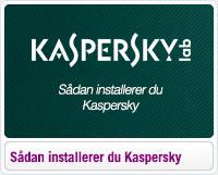 Sådan installerer du Kaspersky