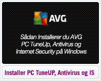 Sådan installerer du AVG PC TuneUp, Antivirus og Internet Security på windows