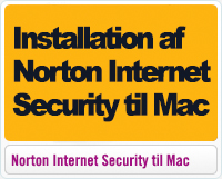 Installation af Norton Internet Security til Mac