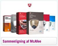 Sammenligning af McAfee a