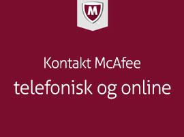 Kontakt McAfee telefonisk og online