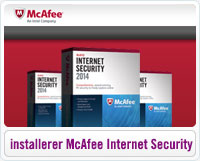Sådan installerer du McAfee Internet Security