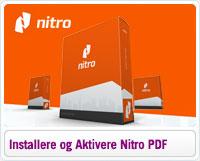 Installere og aktivere Nitro PDF