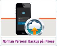 Norman personal Backup på iPhone