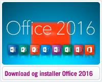 Download og installer Microsoft Office 2016
