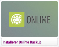 Sådan installerer du Onlime Online Backup