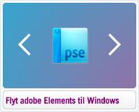 Sådan flytter du Adobe E