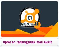 Opret en redningsdisk med Avast