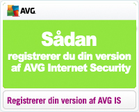 Sådan registrerer du din version af AVG Internet Security