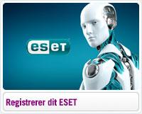 Sådan registrerer du din ESET licens