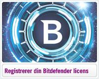 Sådan registrerer du din Bitdefender licens