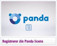 Sådan registrerer du din Panda licens