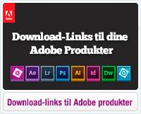 Find download-links til Adobe software