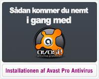 Hjælp til installationen af Avast Pro Antivirus
