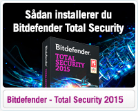 Sådan installerer du Bitdefender Total Security