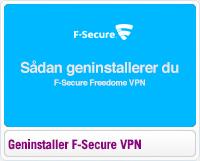 Sådan geninstallerer du F-Secure Freedome VPN