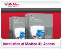 Sådan installerer du McAfee All Access