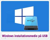 Sådan opretter du Windows 10 installationsmedie på USB