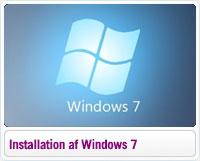 Installation og aktivering af Windows 7