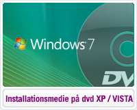 Oprettelse af installationsmedie på DVD i Windows XP eller Vista