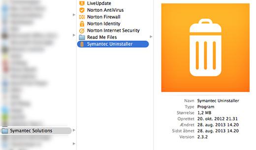 Sådan afinstallerer du Norton på en Mac