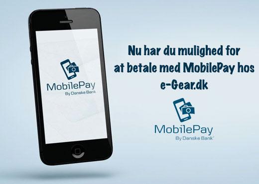 Betal på e-gear.dk med MobilePay