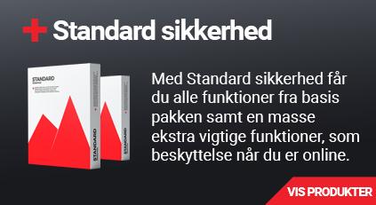 Standard sikkerhedsløsninger hos e-gear.dk